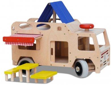 camping auto holzspielzeug spielzeug aus holz kaufen. Black Bedroom Furniture Sets. Home Design Ideas